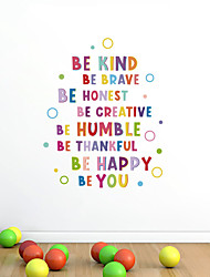 cheap -Be Kind Colorful Letter Circle Children's Room Kindergarten Background Decoration Removable Sticker