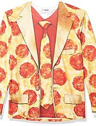 cheap -unisex adult 3d photo-realistic long sleeve suit t-shirt t shirt, pizza suit, medium us