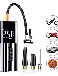 cheap -New Inflatable Pump Mini Portable Air Compressor with LED Lighting Tyre Inflator 12V 60W Wire Air Pump for Car Bicycle balls