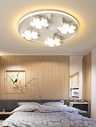 cheap -4/5/6 Heads Led Ceiling Lamp Flower Shape Round Modern Simple Atmosphere Home Personality Nordic Bedroom Iron Lamp