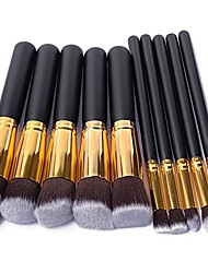 cheap -10pcs/11pcs Silver/Golden Makeup Brushes Set pincel maquiagem Cosmetics maquillaje Makeup Tool Powder Eyeshadow Cosmetic Set