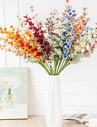 cheap -Artificial Plants Plastic Rustic Bouquet Tabletop Flower Bouquet 2 Delphinium Grandiflorum