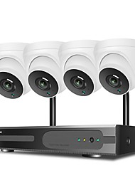cheap -Hiseeu 1080P HD Two-way Audio Wireless NVR 8CH CCTV System 1536P Indoor Security Camera System With 4P WiFi Cameras IP66 Waterproof With Audio Night Vision Surveillance 1TB 3TB Hard Drive