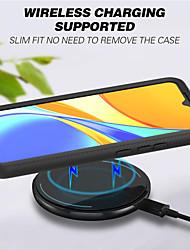 cheap -Phone Case For Xiaomi Back Cover Redmi Note 9 Redmi 10X 5G Redmi 9A Shockproof Translucent Armor Geometric Pattern Armor TPU PC