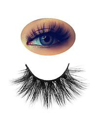 cheap -25mm Mink Lashes Makeup Eyelashes 3D Mink Lashes Fluffy Soft Wispy Volume Natural long Cross False Eyelashes Eye Lashes Reusable