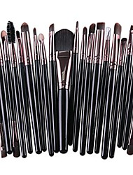 cheap -20 pcs professional makeup brushes set synthetic fiber foundation eyeshadow eyeliner eyebrow concealer lip brush