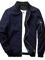cheap -men's jacket slim fit lightweight softshell flight bomber jacket coat
