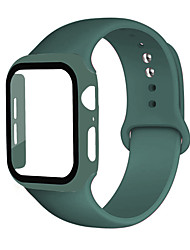 cheap -Watch Case Strap for iWatch 6 SE 5 4 40 44mm Tempered Glass Watch Cover Silicone Watchband for Apple Watch 3 2 1 38 42mm