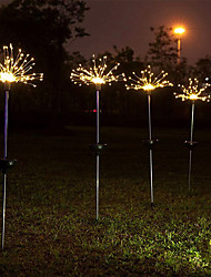 cheap -LED Solar Fireworks Light Lawn Garden String Light Outdoor Waterproof DIY Dandelion Decor Lamp Solar for Patio Christmas Gift for Kids Toy