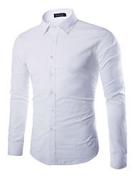"cheap -mens black dress shirts, button up slim fit collared formal shirts 14"" neck 32/33"" sleeve"