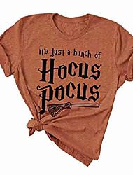 Недорогие -женская это просто куча фокус-покуса футболка хэллоуин смешная ведьма графические футболки футболки размер s (оранжевый1)