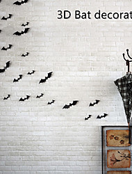 cheap -12Pcs/Set Halloween Decoration 3D Bat Decoration Wall Sticker DIY Room Wall Decals Home Party Decor for Halloween Wall Stickers 60*70cm