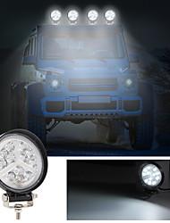 cheap -2Pcs Light LED Work Light Bulbs 126W 12600LM 16 LED White Working Lights For Universal All Models