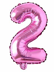 "cheap -16"" inch single rose red alphabet letter number balloons aluminum hanging foil film balloon wedding birthday party decoration banner air mylar balloons (16 inch rose red 2)"
