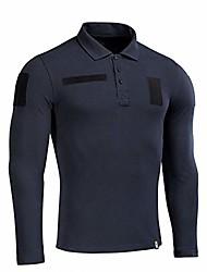 cheap -tactical performance polo long sleeve shirt for men cotton 65/35 military mens t-shirt (navy blue, l)