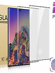 cheap -[2 pack]  galaxy note 10 (6.3 inch) glass screen protector, [tempered glass] [3d full coverage] [designed for fingerprint unlock] hd film for samsung galaxy note 10