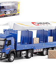 cheap -Alloy Container Truck Toy Truck Construction Vehicle Transport Car Toy Simulation Music & Light All Kids Adults Car Toys