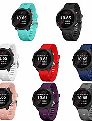 cheap -8pcs bands compatible with garmin forerunner 245/645,20mm soft silicone replacement bands for garmin forerunner 245/645 gps running watch,no tracker(8-pack, buckle design)