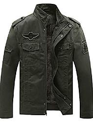 cheap -men's winter military jacket thicken fleece air force cotton coat(khaki,xl)