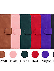 cheap -Phone Case For Apple Full Body Case Leather Wallet Card iPhone 12 iPhone 12 Pro Max iPhone 12 Pro iPhone 12 Mini Wallet Card Holder Shockproof Solid Color PU Leather