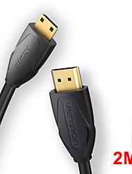 cheap -Vention High Speed Mini HDMI-compatible to HDMI-compatible Cable 2m Male to Male 4K 3D 1080P for Tablet Camcorder MP4 Mini HDMI-compatible cable