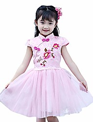 cheap -new year dress for girls elegant tulle princess dress pink size 14-16