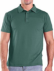 cheap -quick dry golf polo shirts for men sweat wicking summer slim fit button up shirts short sleeve casual active sport athletic clothing tops tees& #40;green,xl& #41;
