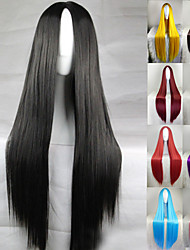 cheap -Cosplay Costume Wig Synthetic Wig Straight Kardashian Straight Middle Part Wig Long Light Blonde Light Brown Lake Blue Grey Shinly Green Synthetic Hair 28 inch Women's Natural Hairline Black