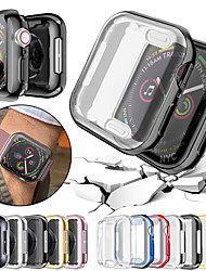cheap -360 Slim Watch Cover for Apple Watch Case 6 SE 5 4 3 2 1 42 MM 38 MM Soft Clear TPU Screen Protector 2 in 1