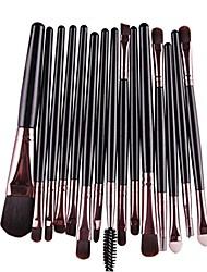 cheap -lavany eye shadow foundation eyebrow lip brush makeup brushes tool,15 pcs/sets (black)