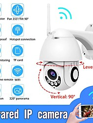 cheap -Waterproof Wireless Wifi Security Camera Rotation Ball Machine Network Surveillance Camera 1080P 4 LED Outdoor 2.0MP 90 Degree