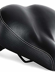 cheap -extra comfortable bike seat for seniors with elastomer springs – extra wide and padded bicycle saddle for men and women comfort – universal bike seat replacement