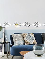 cheap -10Pcs / Set Cross Border Popular Acrylic Mirror Wall Sticker Wholesale Waist Line Skirting Line Ceiling  Background Wall Border Decoration Bedroom Sofa Background 7*7cm