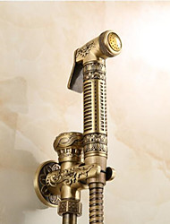 cheap -Bidet Faucet Antique Copper Toilet Handheld Bidet Sprayer Self-Cleaning Antique