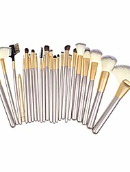 cheap -, 24 pcs professional makeup brush set cosmetic for foundation blending blush concealer eye shadow, synthetic fiber bristles, travel bag included