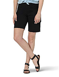 cheap -women's flex-to-go cargo bermuda short black  8