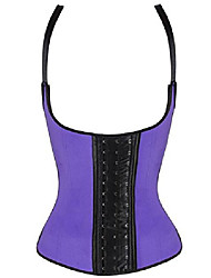 cheap -women's workout waist trainer corsets vest for weight loss(purple,l)