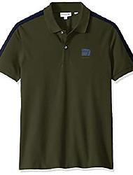 cheap -men's s/s mini pique stretch stripe sleeve slim stretch fit polo shirt, caper bush/navy blue, 4xl