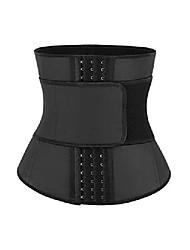 cheap -waist trainer corset for weight loss tummy control sport girdle steel boned waist trimmer belt black s
