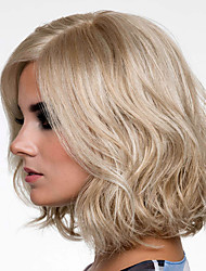 cheap -Synthetic Wig Straight Bob Wig Short Brown Synthetic Hair Women's Fashionable Design Highlighted / Balayage Hair Exquisite Brown