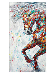 cheap -Oil Painting Hand Painted - Animals Modern Rolled Canvas (No Frame)