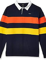 cheap -men johnsy long sleeve knit polo blue medium