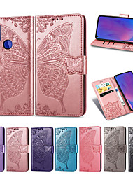cheap -Case For OPPO Oppo Reno 4 / Reno 4 5G / Reno 4 Pro 5G Card Holder / Shockproof / Flip Full Body Cases Butterfly PU Leather