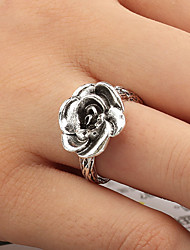 cheap -Band Ring Artisan Silver Sterling Silver Silver Flower Ladies Vintage Punk One Size / Adjustable Ring