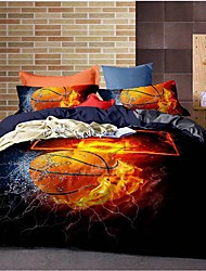 cheap -Sport Basketball Print 3-Piece Duvet Cover Set Hotel Bedding Sets Comforter Cover with Soft Lightweight Microfiber ,Full/Queen/King(Include 1 Duvet Cover and 1or 2 Pillowcases)