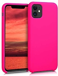 cheap -tpu silicone case compatible with apple iphone 11 - soft flexible rubber protective cover - neon pink