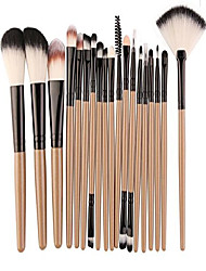 cheap -18 pcs makeup brush set powder eye shadow eyebrow cosmetic make up tool foundation natural beauty palettes eyeshadow fanciness popular eyes face colorful rainbow hair highlights glitter kit, type-04