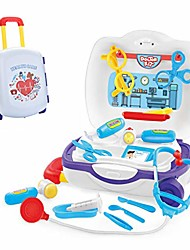cheap -doctor medical kit for kids - kids play doctor kit - 19pcs pretend play medical toys set with trolley case - education role play toy for little girls boys (white, usa)