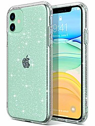 cheap -Phone Case For Apple iPhone 12 Pro Max 11 SE 2020 X XR XS Max 8 7 Transparent Glitter Shine