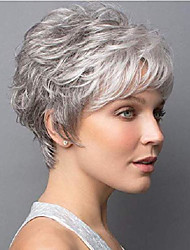 cheap -short pixie cut wigs for women blonde mixed dark brown synthetic hair wigs for women